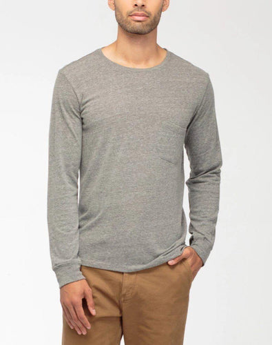 Richer Poorer Men's Long Sleeve Crew Pocket Tee Crew