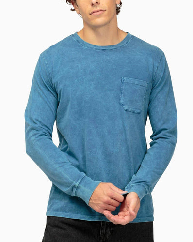 Richer Poorer Men's Long Sleeve Crew Pocket Tee Longsleeve Tees