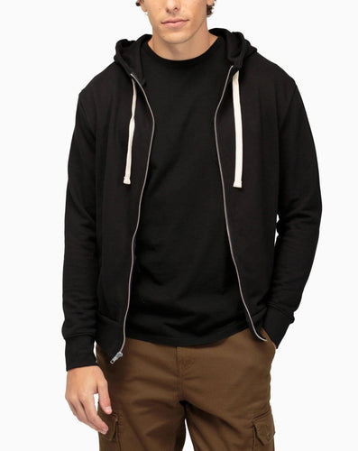 Richer Poorer Men's Zip Hoodie - Black Hoodies