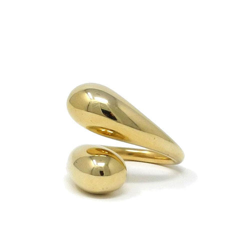 Soko Twisted Dash Ring in Brass Accessories 6