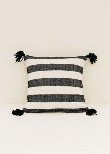 Territory Ancho Stripe Black Pillow Cover Pillow Covers