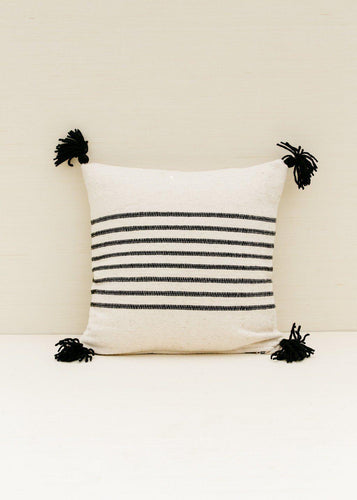 Territory Delgado Stripe Black Pillow Cover Pillow Covers