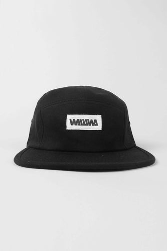 Wawwa Black 5 Panel Cap Hats