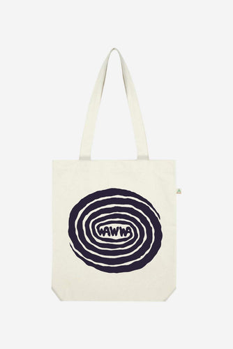 Wawwa Swirl Natural Recycled Tote Bag Satchels + Totes