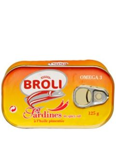 Broli sardine tin, delivered to Cameroon by La Mater Service
