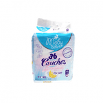 40 Moby Baby Disposable Diapers 3-6kg