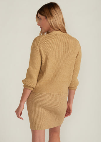CARINA CARDIGAN & SWEATER DRESS SET, OATMEAL