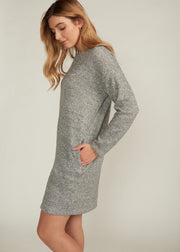 JOSLIN SWEATER DRESS, HEATHER GREY