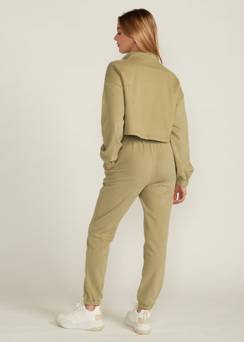 KAI COZY FRENCH TERRY JOGGER SET, LIGHT OLIVE