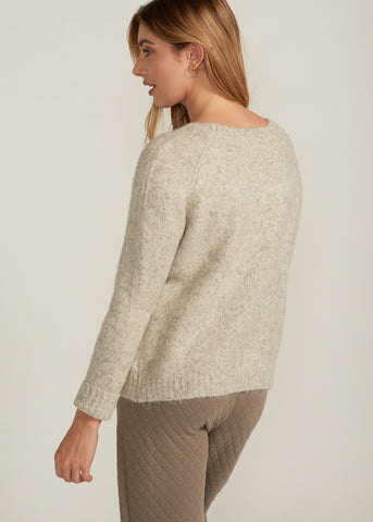 CARAH COZY MARBLE KNIT SWEATER, MELANGE GREY