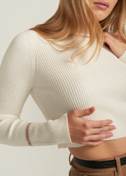 ELSA CROP SWEATER, IVORY