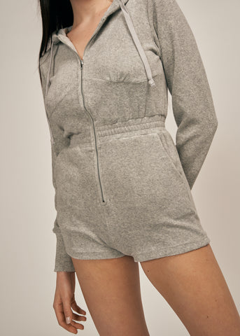 IMANI SPORTY PLAYSUIT, HEATHER GREY