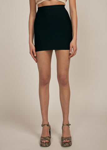 ACADIA BANDAGE MINI SKIRT, BLACK