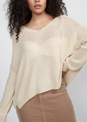 DENVER DROP SHOULDER SWEATER, NATURAL