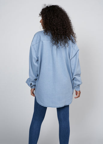 HENDRIX OVERSIZED DENIM SHIRT, CHAMBRAY