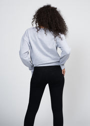 MOLLY CREW NECK JOGGER TOP, HEATHER GREY