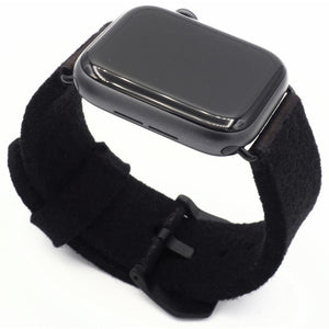 Black Apple Watch band from merino wool