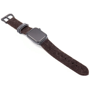 Brown Apple Watch band from merino wool