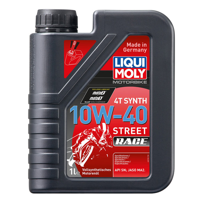 LIQUI MOLY - OIL 4-STROKE - FULLY SYNTH - STREET RACE - 10W-40 - 1L