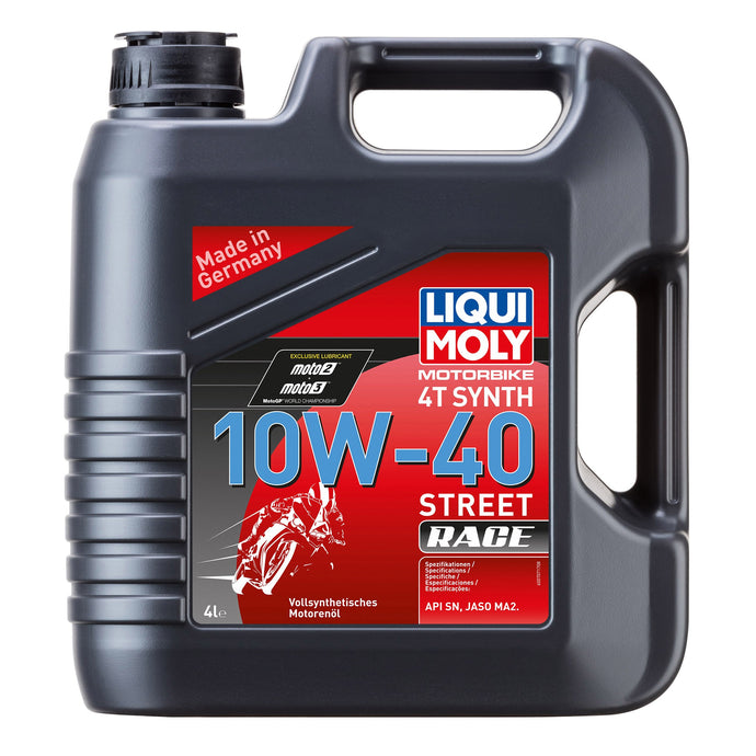 LIQUI MOLY - OIL 4-STROKE - FULLY SYNTH - STREET RACE - 10W-40 - 4L