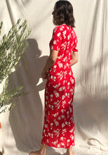 Load image into Gallery viewer, Red Island Floral Dress
