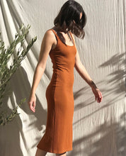 Load image into Gallery viewer, Rustic Brown Ribbed Dress