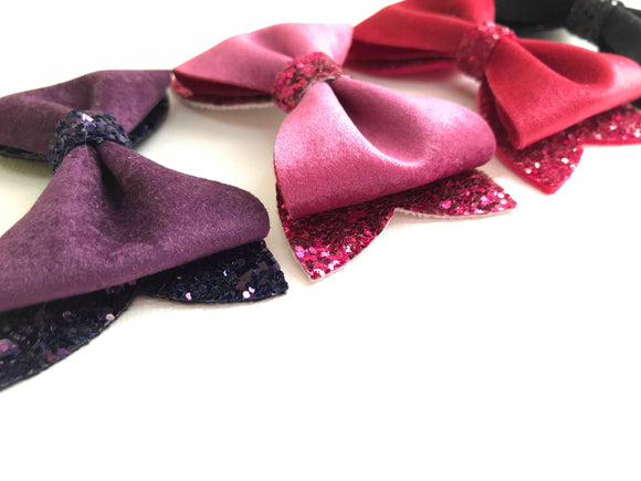 "Velvet Crush   ~  3"" Ella Bow"