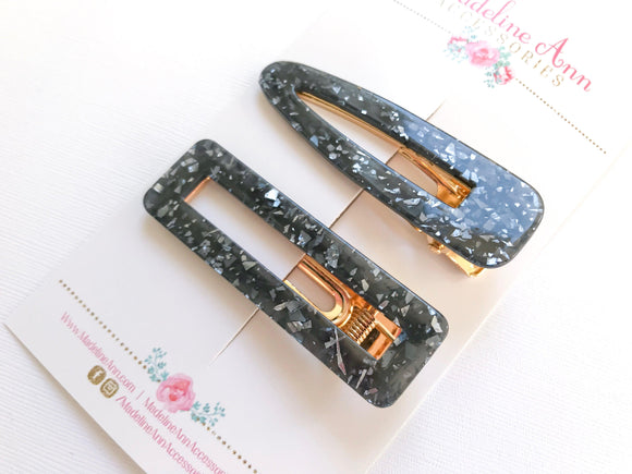 Ladies' Black Mica Clip