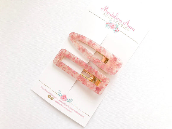 Pink Mica Clips
