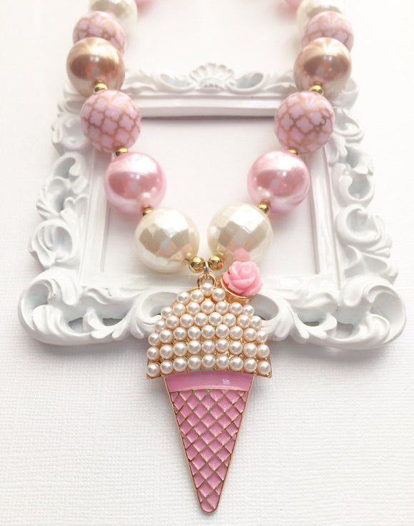 Ice Cream Pendant Necklace