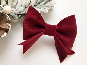 Red Velvet  Sailor Bow