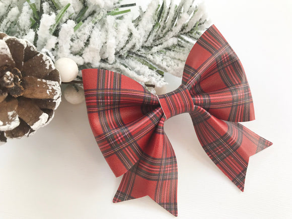 Christmas Tartan ~ Sailor Bow