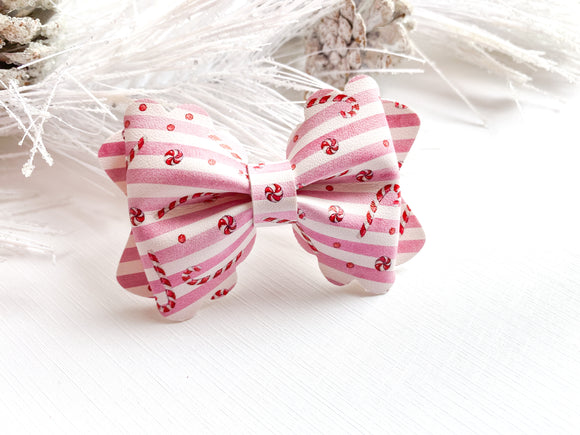 Candy Canes ~ Luna Scalloped Bow