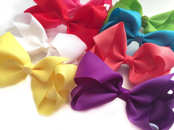 "4"" Boutique Bow Set, Bright Shades"