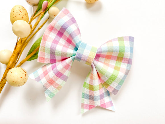 Spring Gingham ~ Sailor Bow