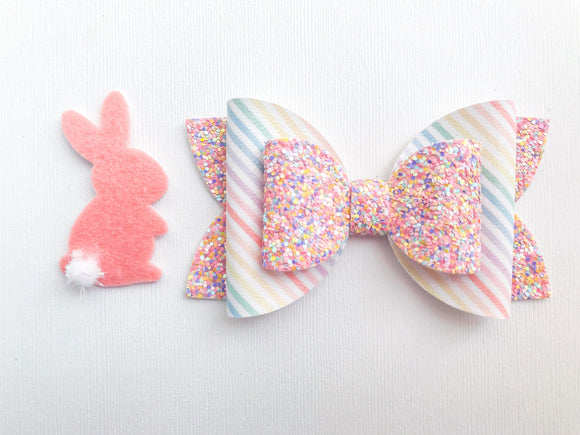 "Stripes & Sprinkles ~  4"" Layered Maddie Bow"