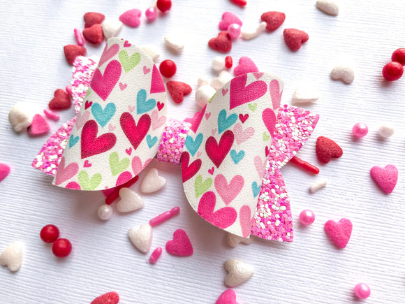 "Bright Hearts   ~  3"" Maddie Bow"