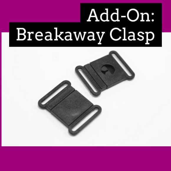Add-On Breakaway Clasp for Ribbon Laynard