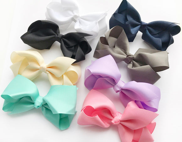 "4"" Boutique Bow Set, Classic Shades"