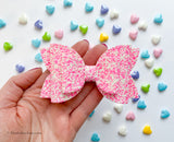 "Sweetheart Glitter  ~  5"" Maddie Bow"