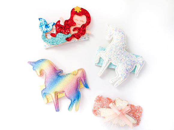 Glittery Novelty Clips