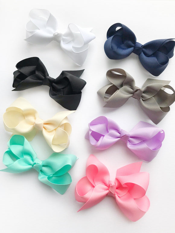 "3"" Boutique Bow Set, Classic Shades"