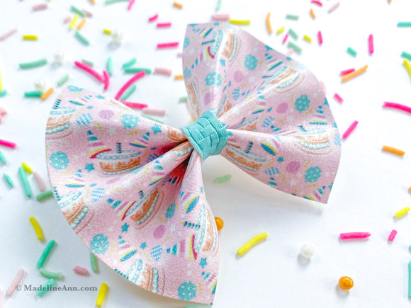 Birthday Cake Pinch Bow