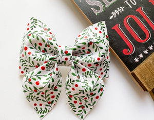 "Holly Berry 4"" Sailor Bow"