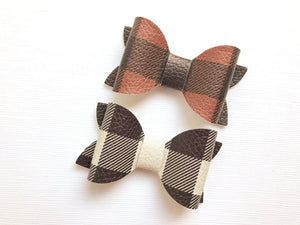 "Plaid 2"" Maddie Bow"