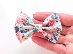 Teal Bloom Pinch Bows