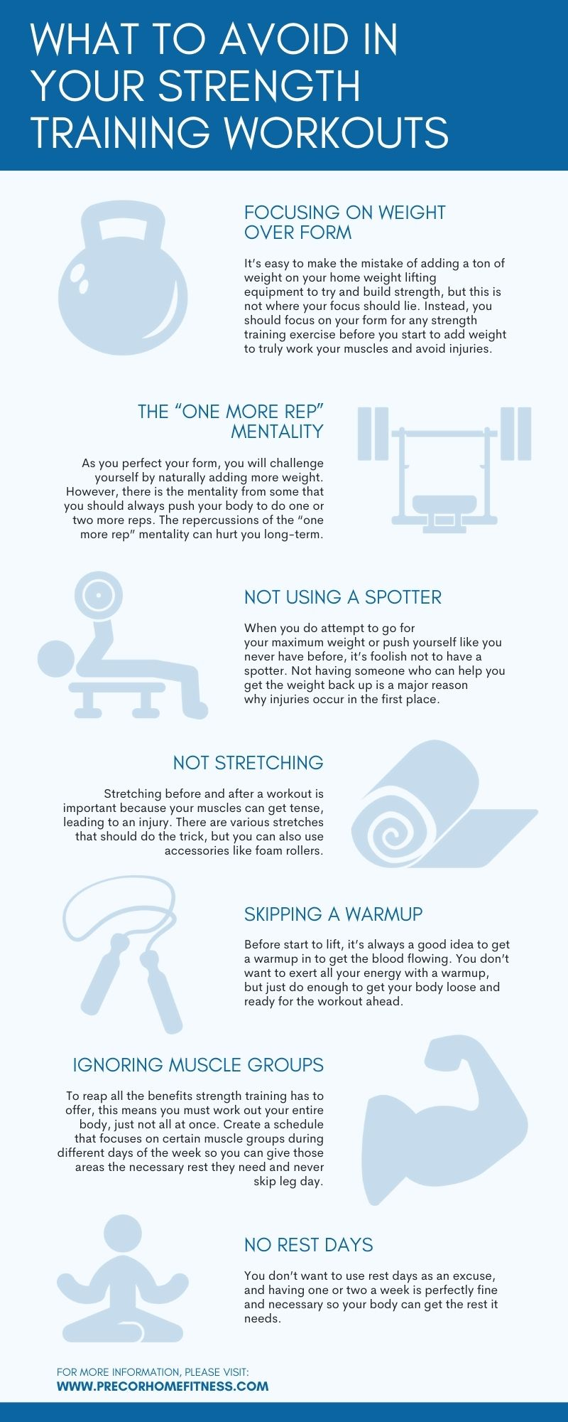 Strength Training Workout Tips Infographic