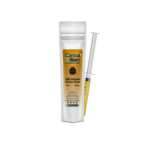 Cannablast Premium CBD Honey Dose 3ml 15mg - Cannablast Premium CBD