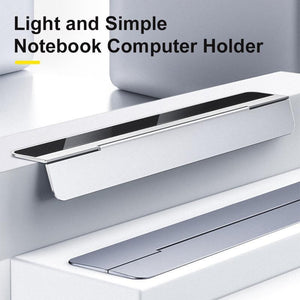 Adjustable desktop laptop stand