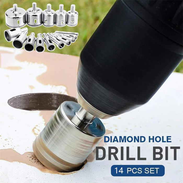 Diamond Hole Drill Bit 14 Pcs Set